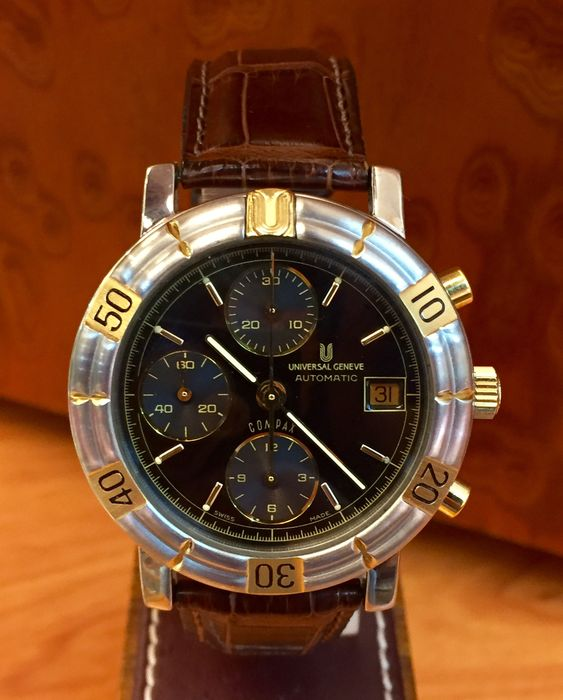 police box second hand watches buy and sell in the uk and universal genève compax automatic chronograph men s watch year 1998