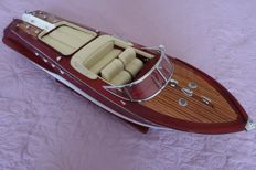 Very nice model of the boat Riva Aquarama, white leather finish