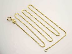 18K Yellow Gold Necklace Wheat Chain