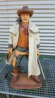 Very nice statue of a cowboy - height +/-85 cm