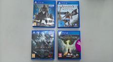 Lot of 4 PS4 games - Destiny , Assassin's Creed IV Black Flag , Diablo Ultimate Evil Edition and Dragon Age Inquisition