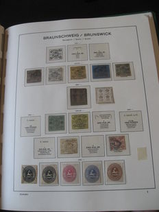 Brunswick 1853-1866 - Stamp collection