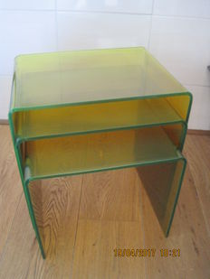 Designer unknown - Mimi set made of fluorescent green perspex