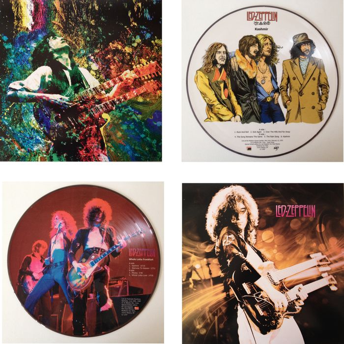 "Led Zeppelin  Lot Of Two Picture Disc LP's ""Kashmir""  &  ""Whole Lotta Frankfurt"""