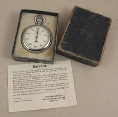 UMF Ruhla - pocket/stopwatch with original box and paper from 1955 - Made in GDR !