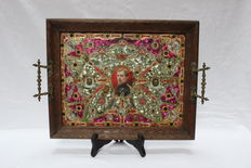 rare antique royal wood tray - 1st half 20th century - Austrian