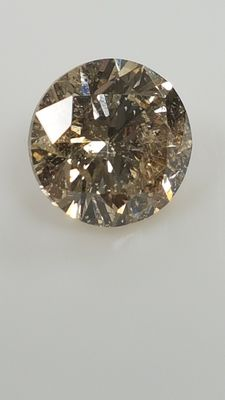 1.00 ct - Round Brilliant - Intense Brown - SI1