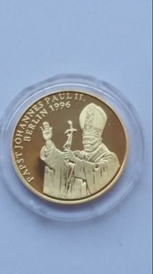 "Germany - Medal ""Pope John Paul II - Visit Berlin 1996"" - Gold"