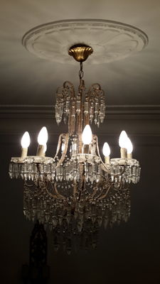A pair of 8-arm chandeliers in Louis XV style, Italy, mid 20th century