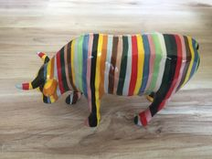 Cary Smith voor cowparade  - Striped -  Medium  - Retired