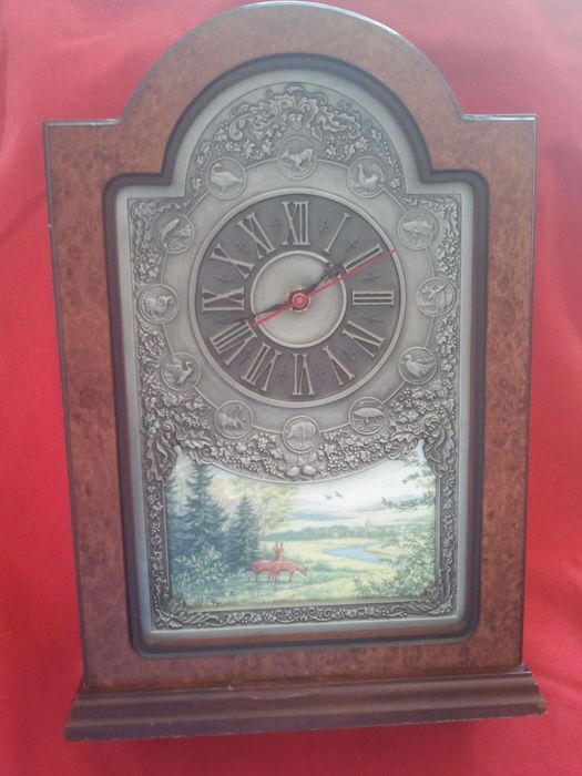 "Franklin mint ""sportsman's year clock "" die weidmannsuhr"