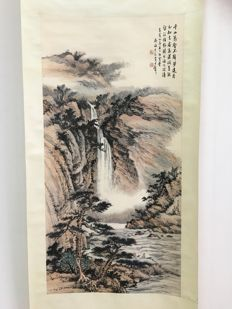 Exquisite scroll painting - China - late 20th century