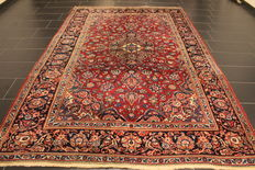 Very beautiful fine antique Persian palace carpet, Kashan, finest cork wool circa 1950, made in Iran, 197 x 306 cm
