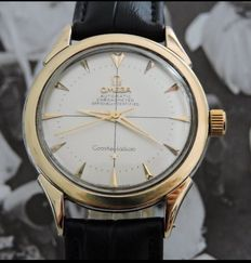 Omega-Constellation --Chronometre-Gold and steel- Hammer automatic table(354)-60s