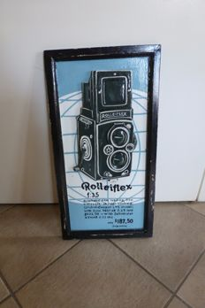 3D Wooden advertising sign Rolleiflex (Retro) - late 20th century