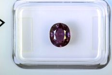 Colour changing sapphire – 1.90 ct