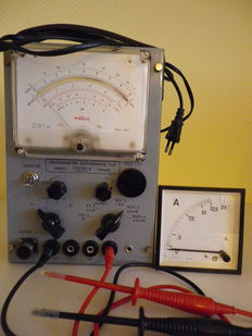 Electronic voltammeter Metrix and ammeter table IPG - France - ca 1970