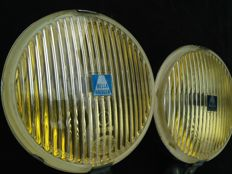 Nice Hella Rally - Fog lights with golden mirror 140 mm.