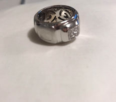 Fidia – 18 kt white gold ring – 0.24 ct in diamonds – Size 15/55