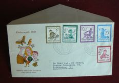 The Netherlands 1950 – FDC Child – NVPH E4, with inspection certificate