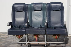 Economy Class Triple Chair of TAP's A319 Aeroplane