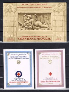 France, years: 1950-1960 – 11 Red Cross booklets, including those of years 1952 and 1953.