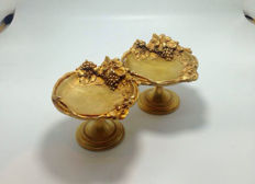 Albert Marionnet (1852-1910) - Two gilded bronze signed cups