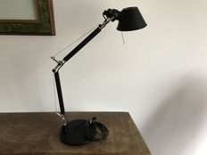 Giancarlo Fassina, Michele de Lucchi for Artemide – Tolomeo Micro black, table lamp