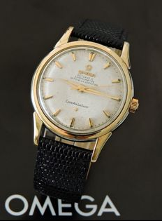 Omega-Constellation -Chronometre - Hammer automatic table-Gold and steel-Man's-60s