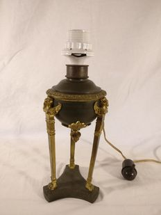 French Empire oil lamp made electric in the 1930s.