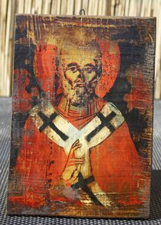 Russian icon St. Nicolas de miracle performer - exact age unknown