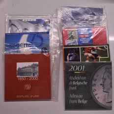 Belgium - year pack 1996/2001 (7 different sets)