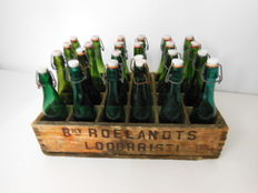 Crate with beer bottles - Ca 1950