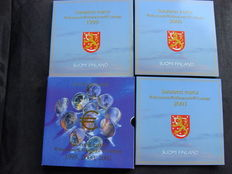 Finland – Year collections 1999, 2000, 2001, and 2002 (4 sets in total).