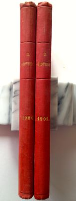 Magazines; Il Giovedì - Bound instalments from 4/1/1900 to 26/12/1901 in 2 volumes - 1900/1901