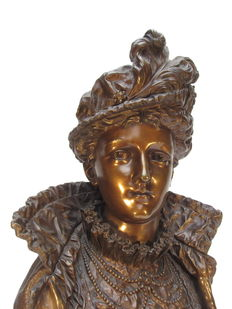 Ernest Rancoulet (act. 1870-1915) - imposing bronze bust of a noble lady - circa 1900.