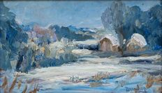 Robert Ossory Dunlop (attributed to) - Snow at Barnham (England)
