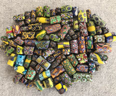 90 Antique Venetian Millefiori African trade beads
