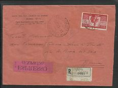 Italy, 1946-1951 – interesting selection of 8 travelled envelopes
