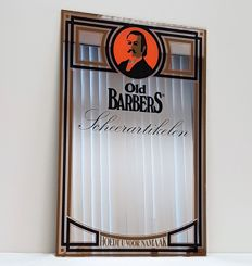 Mirror - Barber shop - 20th century