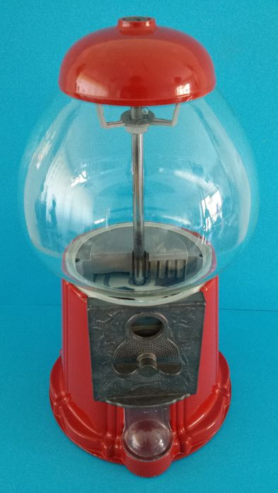 Gumball machine made of cast iron and glass - 20th century.