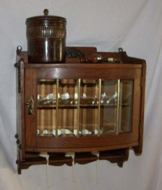 Pipe smokers cabinet first half of 20th century.