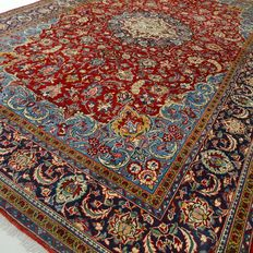"Isfahan Najafabad – 345 x 226 cm – ""XL-Eyecatcher - Impressive, richly decorated, Persian rug in mint condition"""