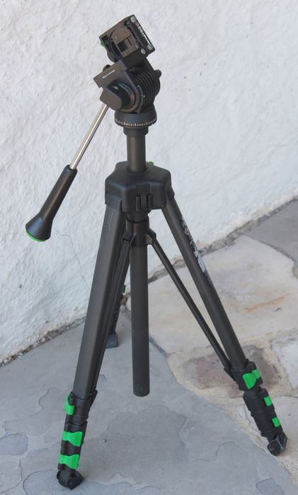 Cullmann tripod with 3D head and quick-release system
