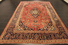 Very beautiful fine antique Persian palace carpet, Kashan, finest cork wool circa 1960, made in Iran, 205 x 330cm