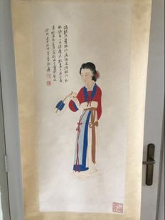 scroll painting made after Zhang Da qian - china - 2nd half 20th century