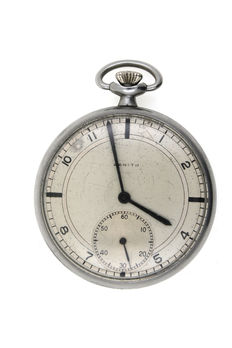 Zenith men's savonette pocket watch chronometer