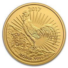 Australia - Lunar Year of the Rooster 2017 - 5$ - 999 gold coin