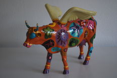 Liz Lomax - Cow Parade - type Angelicow - Large en Retired