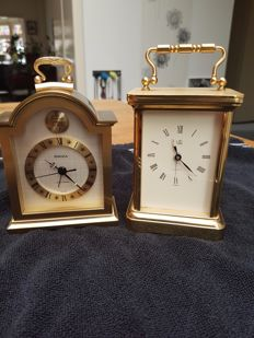 Lot of two (2) table clocks - Uti and Swiza - 1970s